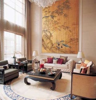 Impressive chinese living room decor ideas 12