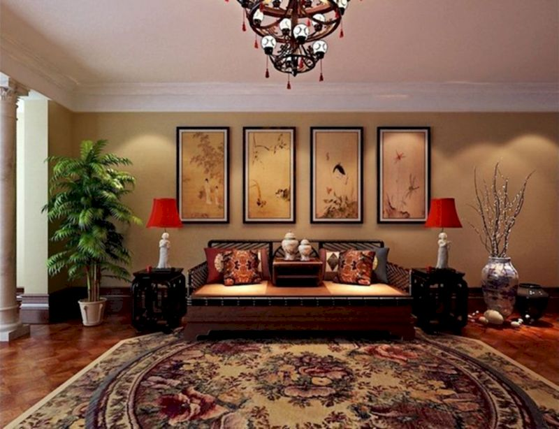 Impressive chinese living room decor ideas 37
