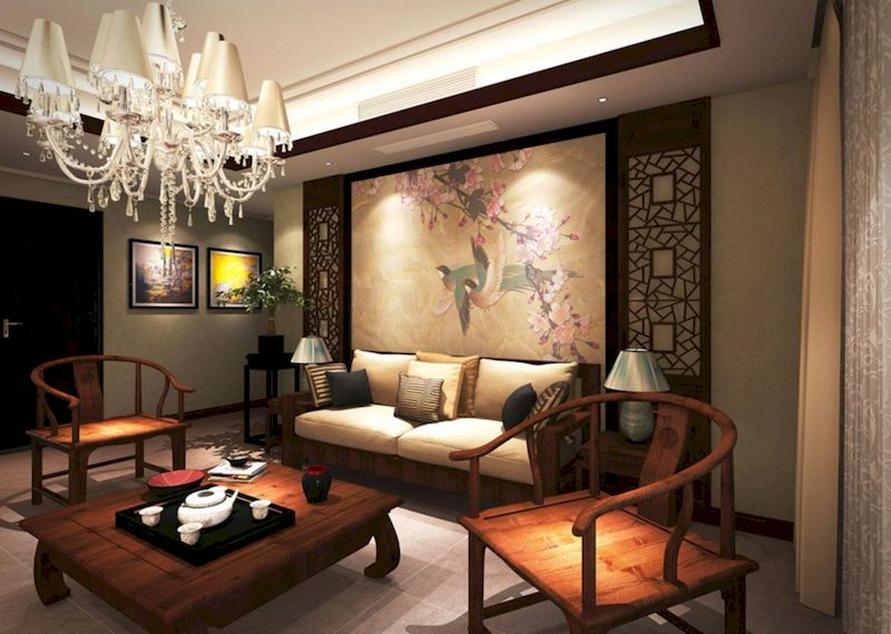 Impressive chinese living room decor ideas 43