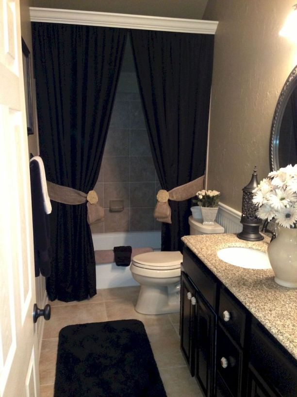 Magnificient red wall design ideas for bathroom 28