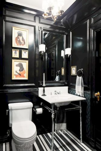Newest gothic bathroom design ideas 29