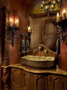 Newest gothic bathroom design ideas 35