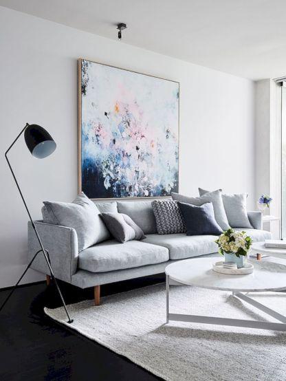 Stunning scandinavian living room design ideas 24
