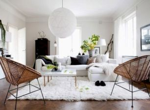 Stunning scandinavian living room design ideas 25