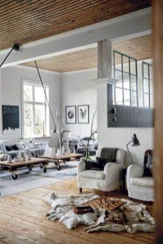 Stunning scandinavian living room design ideas 40