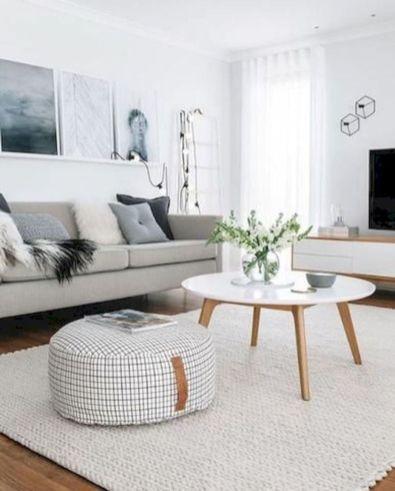 Stunning scandinavian living room design ideas 45