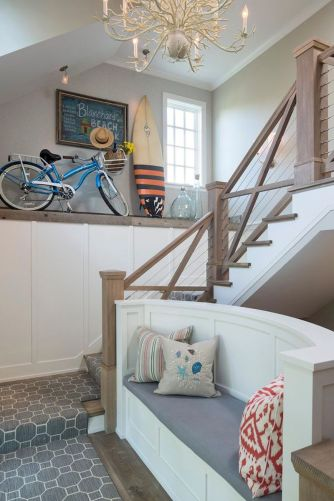 Unique coastal stairs design ideas for home this summer 47