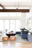 Unique mid century living room décor ideas 04