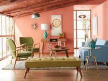 Unique mid century living room décor ideas 09