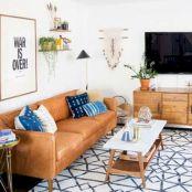 Unique mid century living room décor ideas 33