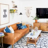 Unique mid century living room décor ideas 33