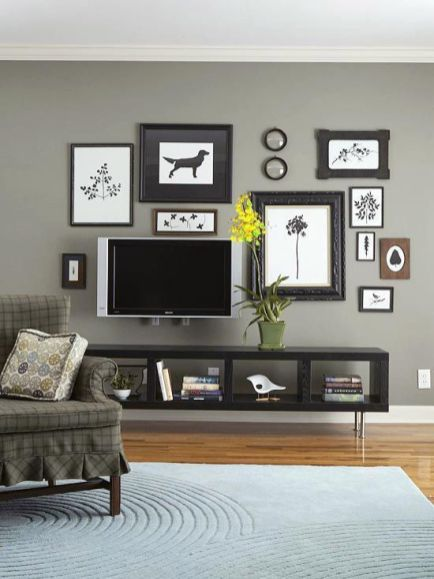 Adorable tv wall decor ideas 38