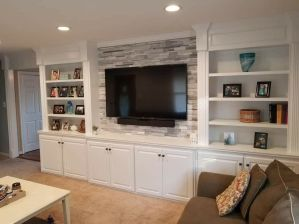 Adorable tv wall decor ideas 45