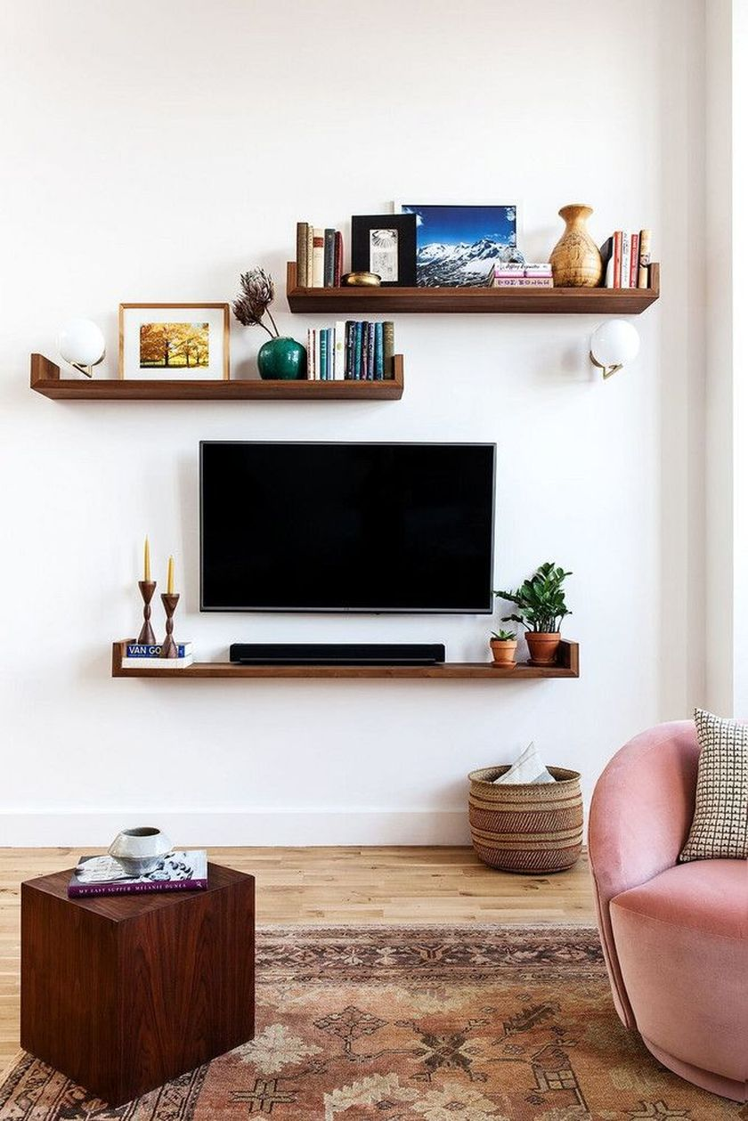 Adorable tv wall decor ideas 47