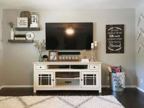 Adorable tv wall decor ideas 48
