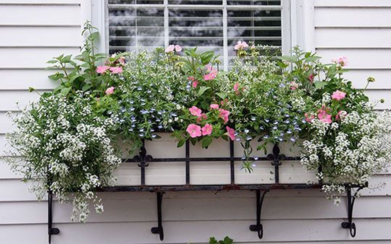 Attractive window box planter ideas to beautify up your home 06