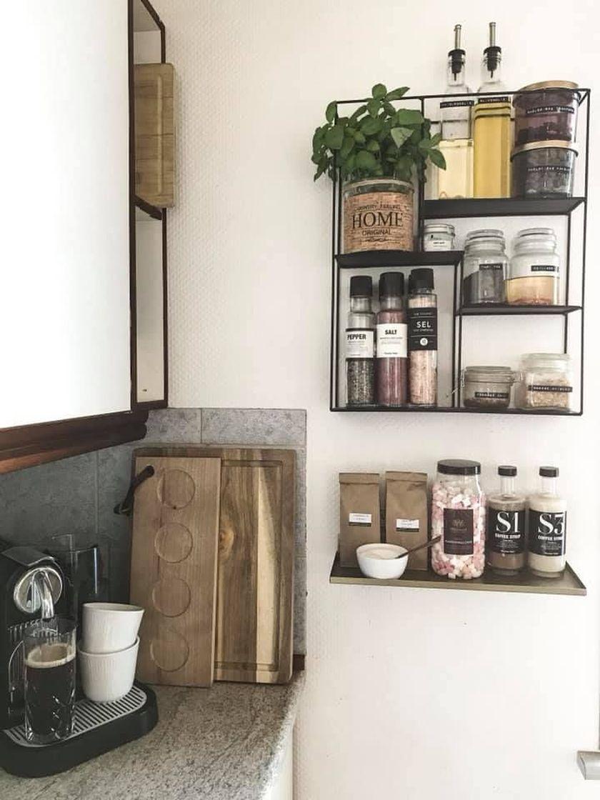 Elegant kitchen desk organizer ideas to look neat 41