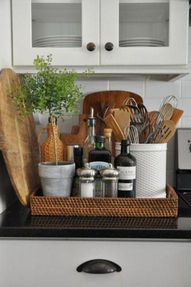 Elegant kitchen desk organizer ideas to look neat 48