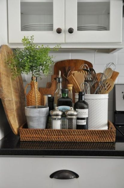 Elegant kitchen desk organizer ideas to look neat 48