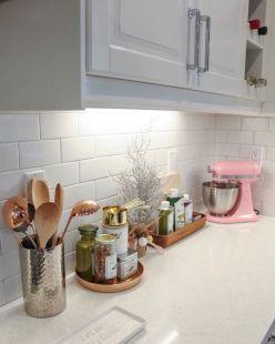 Elegant kitchen desk organizer ideas to look neat 53