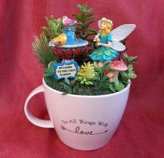 Impressive mini garden mug ideas to add beauty on your home 03