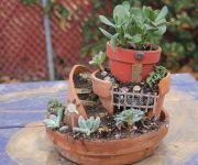 Impressive mini garden mug ideas to add beauty on your home 11