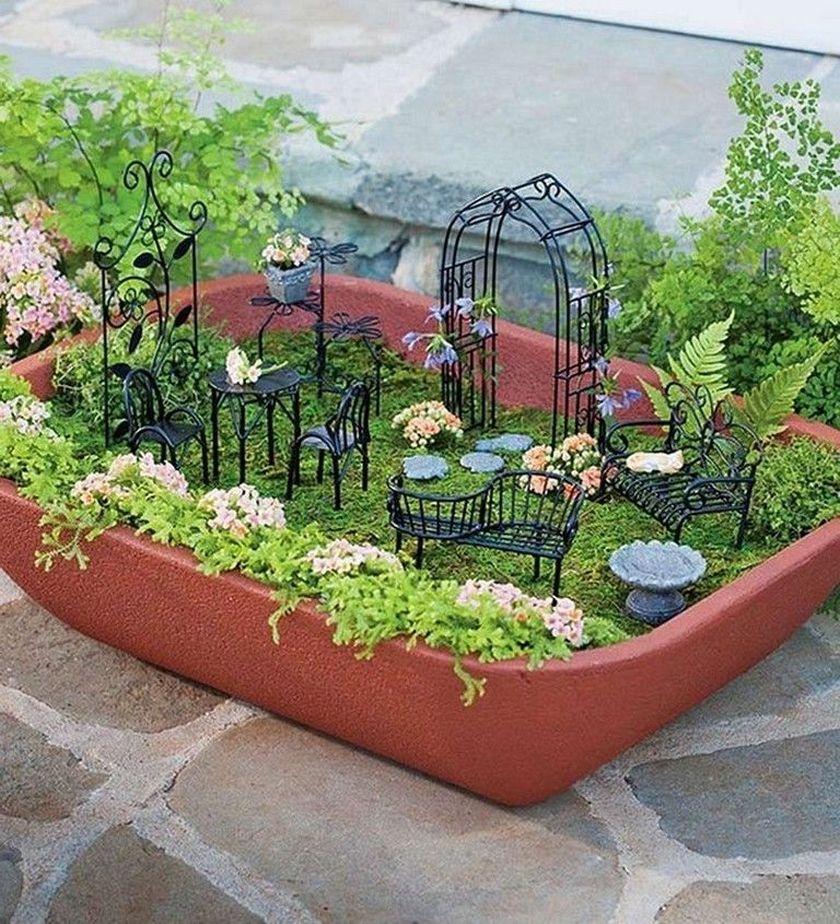Impressive mini garden mug ideas to add beauty on your home 31