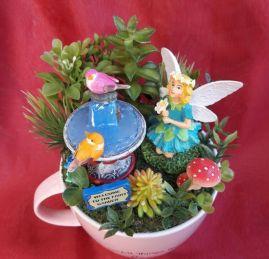 Impressive mini garden mug ideas to add beauty on your home 35