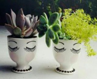 Impressive mini garden mug ideas to add beauty on your home 36