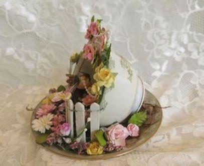 Impressive mini garden mug ideas to add beauty on your home 39