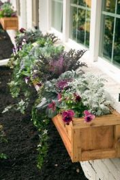 Stunning wood flower box ideas to beautify the flower decoration 03