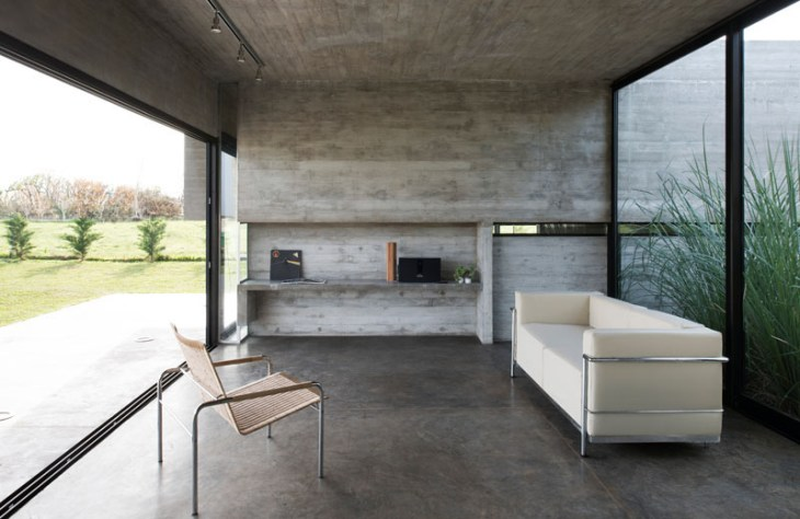 Concrete House Design To Achieve Industrial Appeal But Modern 2