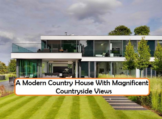 A modern country house with magnificent countryside views
