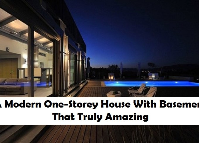 A modern one-storey house with basement that truly amazing