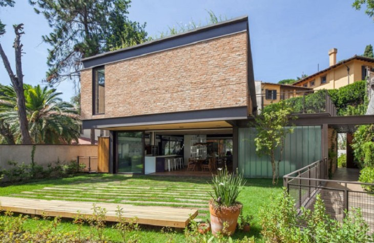 This new house uses old materials but look fabulous