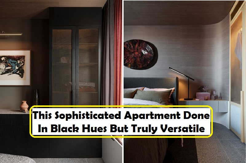 This Sophisticated Apartment Done In Black Hues But Truly Versatile