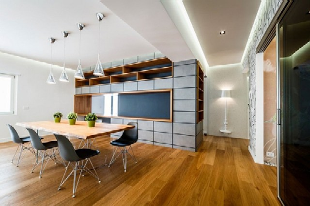 Modern Apartment Design With Monolithic Partition 3