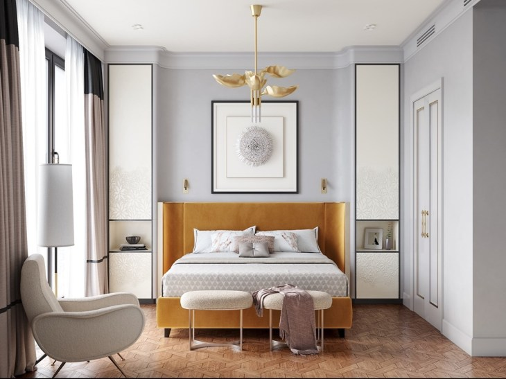 2 Beautiful Transitional Bedrooms Which Bridge Modern And Traditional Style Together