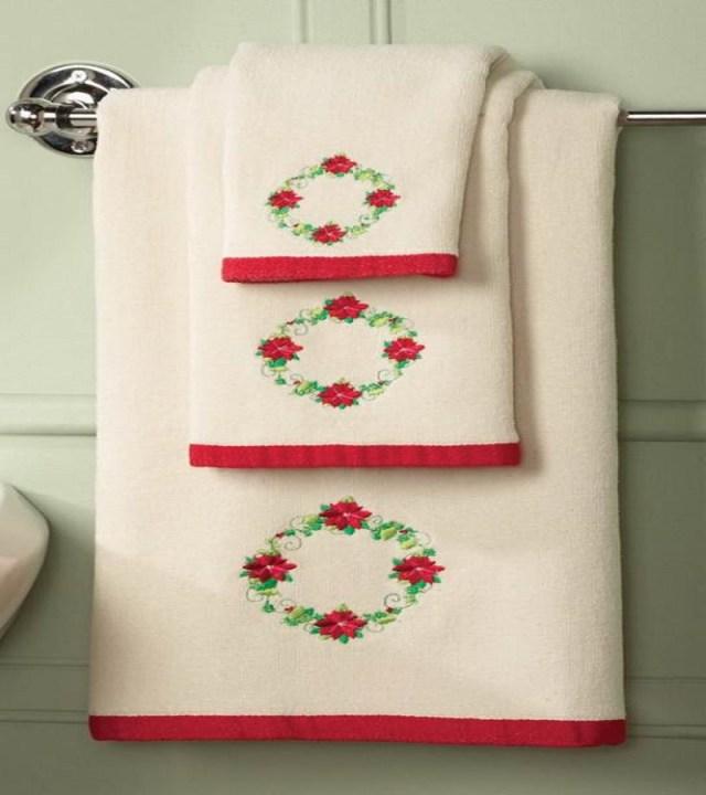 Christmas bathroom towels Christmas bathroom accessories Unpredictable Brilliant Bathroom Ideas For Winter Christmas Season