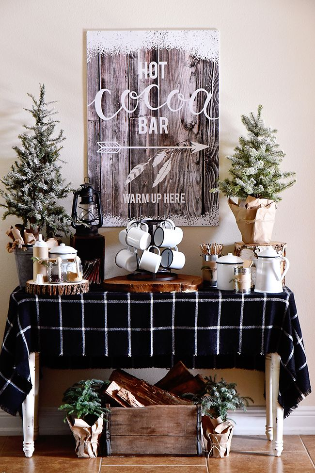 Hot cocoa bar Beating The Winter Blues With These Cozy Decorating Ideas That Is Easy To Be Applied
