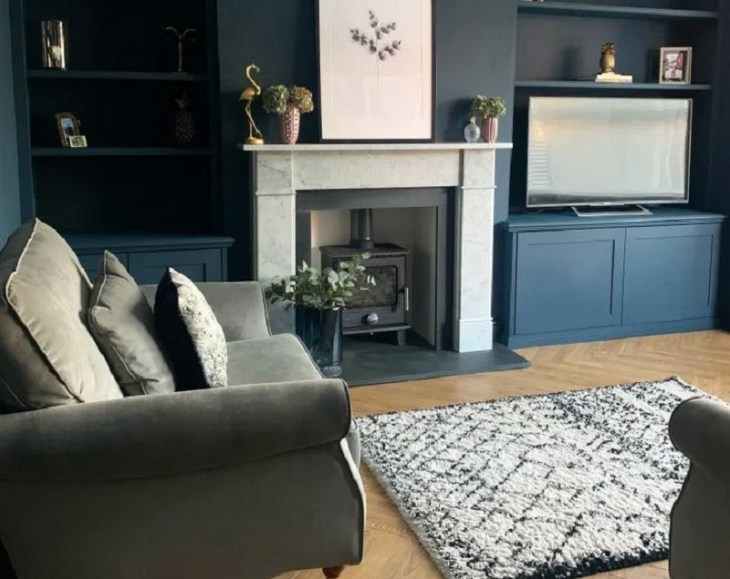 Dramatic home interior design with a dark color to gain peace and serenity 1