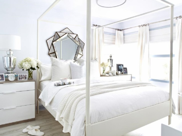 Geometric mirror Roaring Above The Bed Decoration Ideas To Have A Fresher Look
