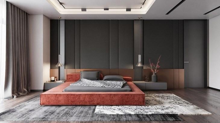 Low slung platform bed