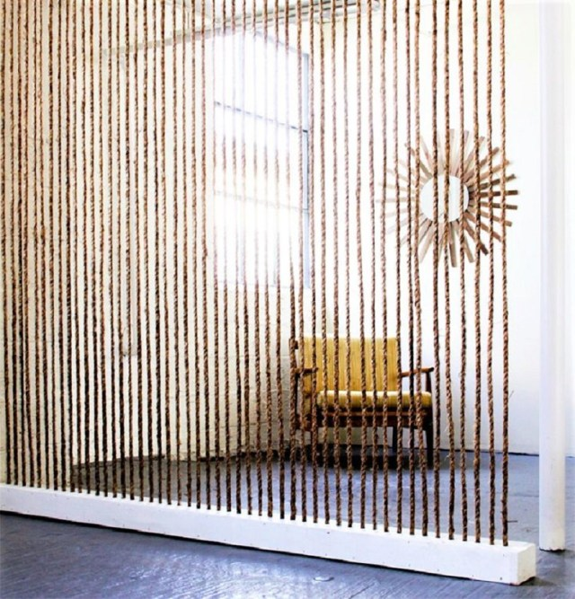 Simple jute rope room divider Genius Grand Room Dividers Ideas To Get The Most Out Of Any Space