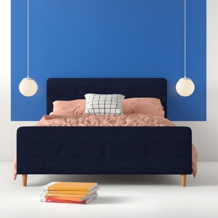 Symons low profile upholstered platform bed Hypnotize Bed Frames Where You Can Rest Easily With Style