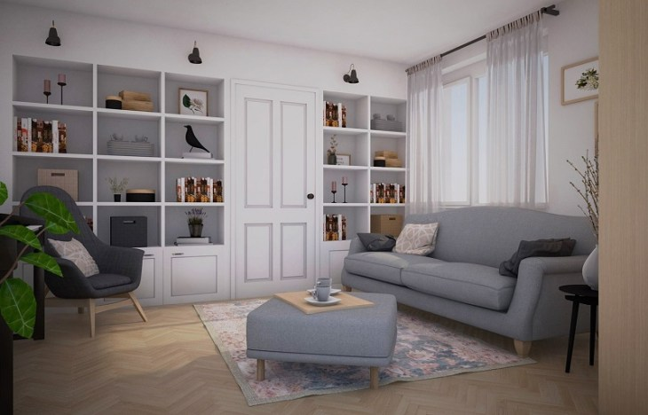 Vintage apartment with romantic tone that comfortable for a young couple 2