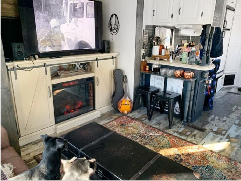 Tiny home on wheels that looks nice for a couple and three dogs