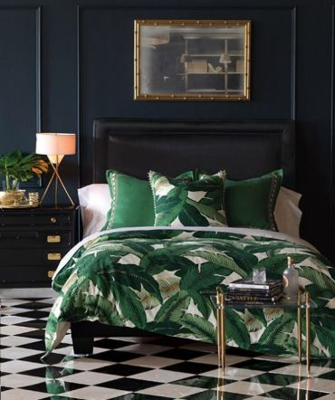 09-tropical-leaf-print-bedding-is-a-budget-friendly-way-to-spruce-up-the-bedroom