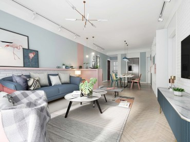 Blue-and-pink-decor