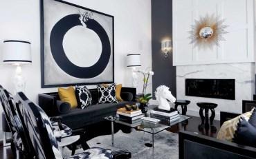 Black-and-gold-living-room-big-framed-visual